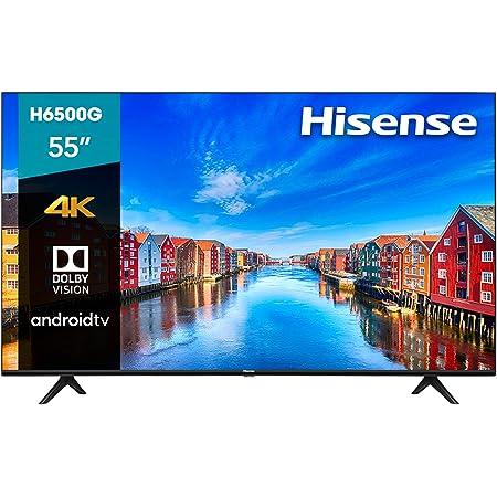 "Hisense 55"" H6500G 4K UHD Android TV, Control de Voz, HDR Dolby Vision (55H6500G, 2020)"