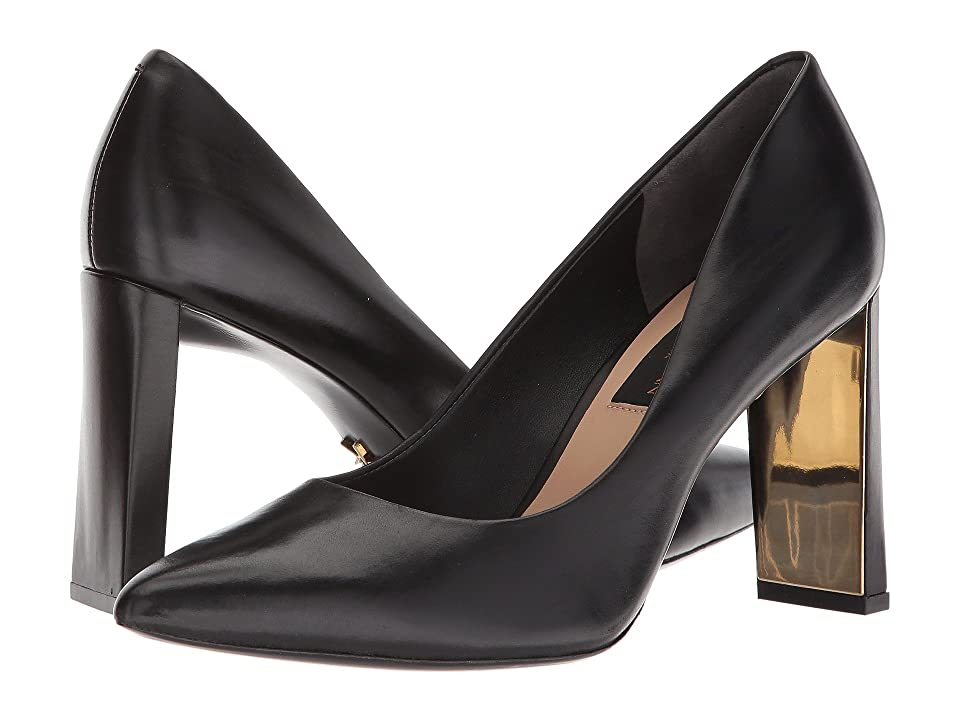 Donna Karan Criss Mid Pump (Black) High Heels