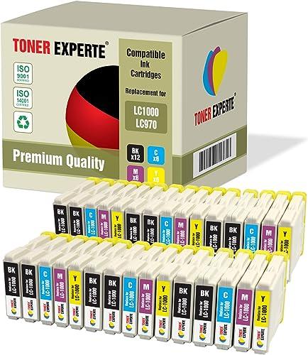 Pack 30 XL TONER EXPERTE® Compatibles LC1000 LC970 Cartouches d'encre pour Brother DCP-130C 135C 150C 260C 330C 350C ...