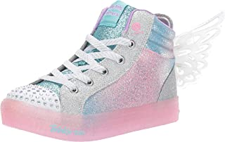 Skechers Shuffle Brights - Glimmer Wings Girls Sneakers, Light Blue/Multi