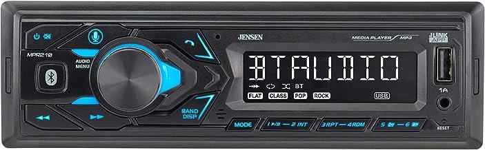 JENSEN MPR210 7 Character LCD Multimedia Single DIN Car...