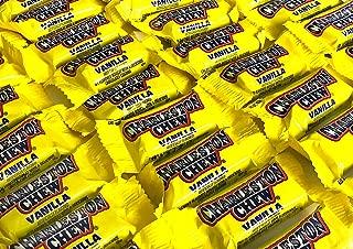 Charleston Vanila Chews Candy, Individual Wrapped, Small Snack Size Bars - 2LB
