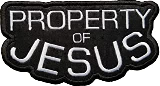 Property of Jesus Embroidered Iron On Patch 4.8