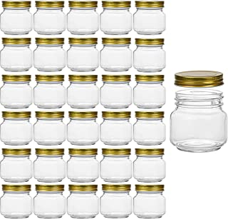 30 pack | 8 oz Glass-Jars-with-Lids and bends Ball Regular Mouth Jars For Storage, Mason Jars 8 oz for Candles, Honey, Coo...