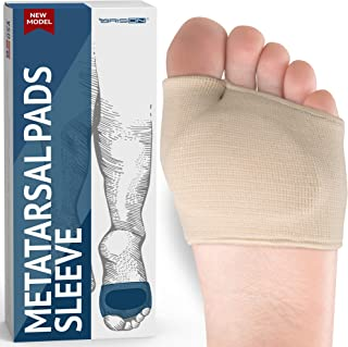 Metatarsal Pads – Gel Sleeves Forefoot Cushion Pads – Fabric Soft Foot Care..