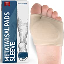 Metatarsal Pads - Gel Sleeves Forefoot Cushion Pads - Fabric Soft Foot Care Ball of Foot Cushions for Bunion Forefoot Blis...