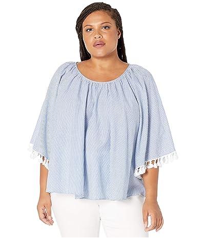 Karen Kane Plus Plus Size Angel Sleeve Top (Stripe) Women