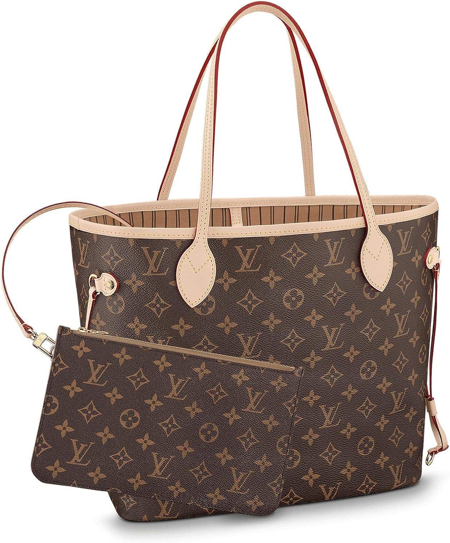 DMYTROVITCHUK V Style Bags Women Handbag Tote MM Shoulder Bag Organizer Brown Monogram color Made of Canvas Top Handles