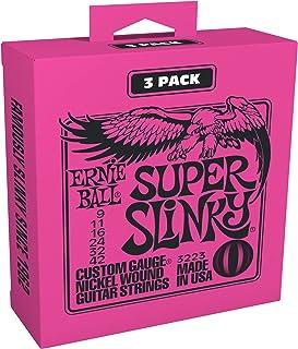 Ernie Ball slinky nickel Níquel, Paquete de 3, Super