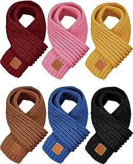 6 قطعه روسری بافتنی بچه گانه روسری یکدست بچه گانه زمستانی برای دختران پسر
