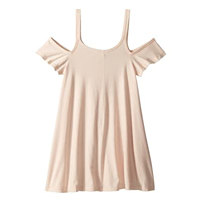Maddie by Maddie Ziegler Knit Strappy Dress with Ruffle Sleeve (Big Kids) (Pink) Girl