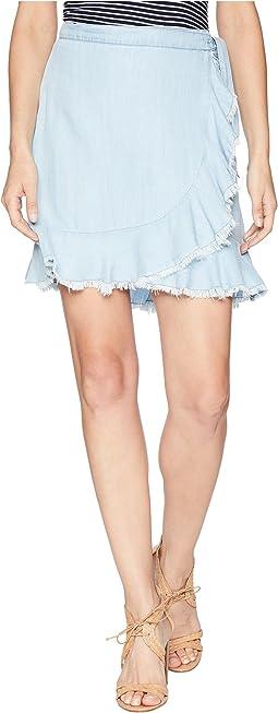 BB Dakota Janelle Chambray Wrap Skirt