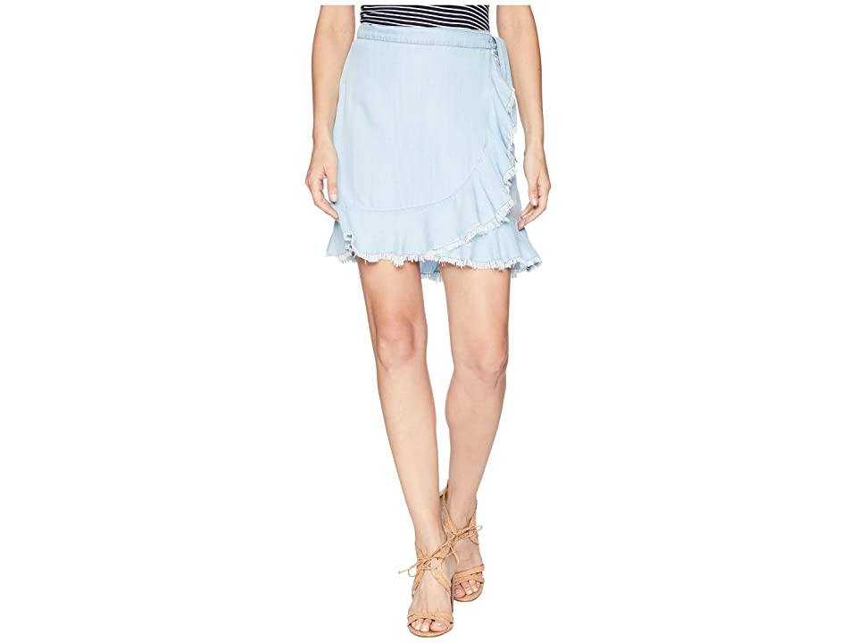 BB Dakota Janelle Chambray Wrap Skirt (Chambray) Women