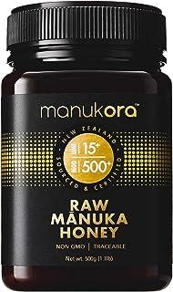 Manukora UMF 15+/MGO 500+ Raw Mānuka Honey (500g/1.1lb) Authentic Non-GMO New Zealand Honey, UMF & MGO Certified, Traceabl...