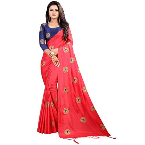 Tagline Women's Paper Silk Saree With Blouse Piece