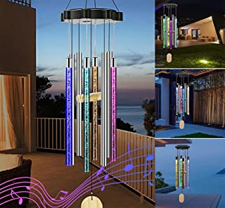 Solar Wind Chimes with Color Changing Music Lights,...