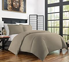(Full/Queen, Taupe) - Zen Bamboo Ultra Soft 3-Piece Bamboo Full/Queen Duvet Cover Set - Hypoallergenic and Wrinkle Resista...