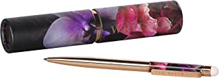 Ted Baker ATED419 Splendor Ballpoint Pen and Touchscreen Stylus In Floral Storage Tube, Gold