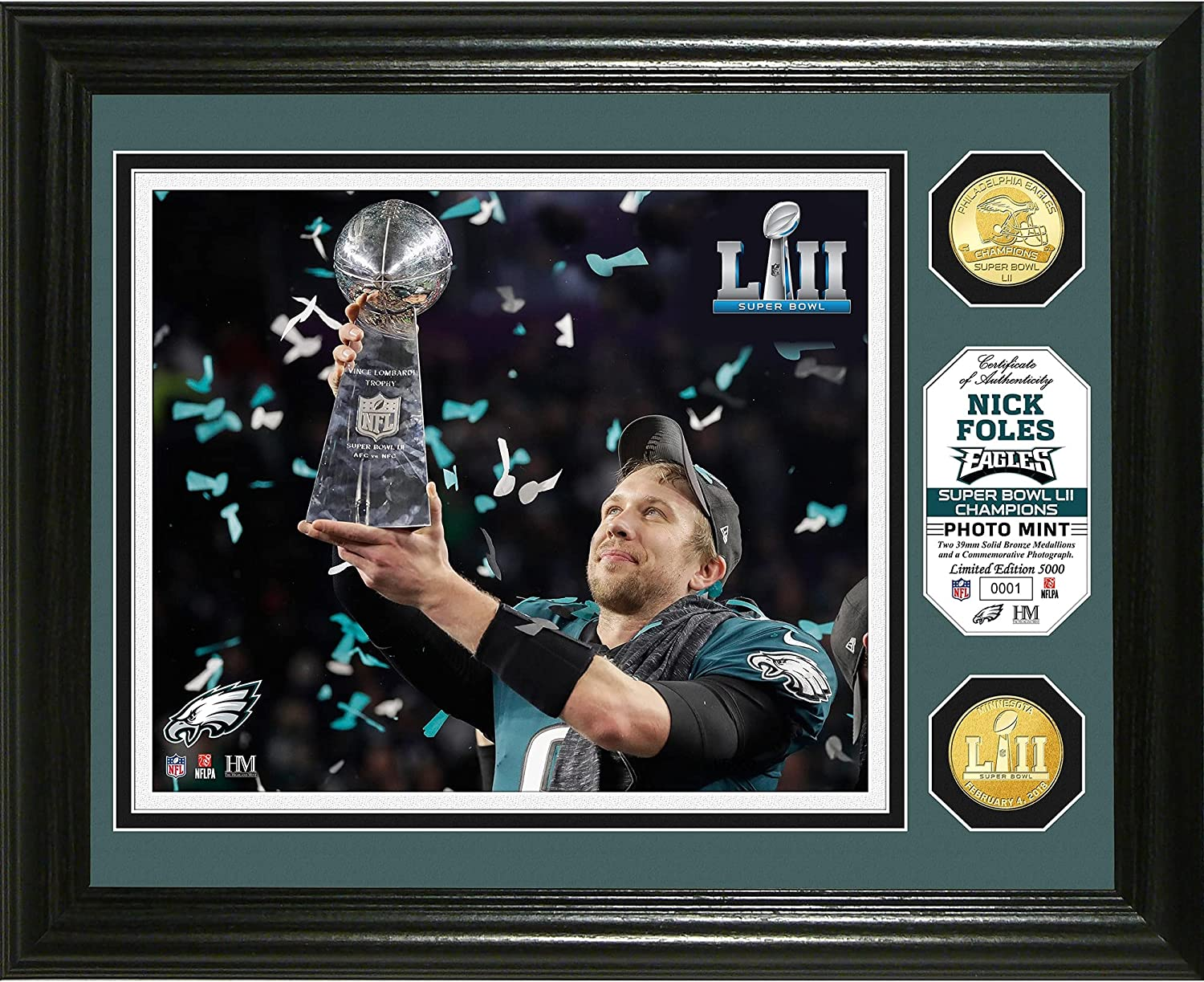 Highland Mint Nick Foles Philadelphia Cheap Spasm price mail order specialty store Bowl LII Cham Super Eagles