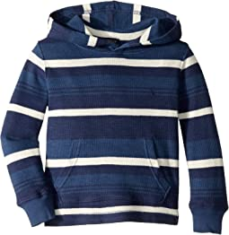 Striped Waffle Knit Hoodie (Toddler)