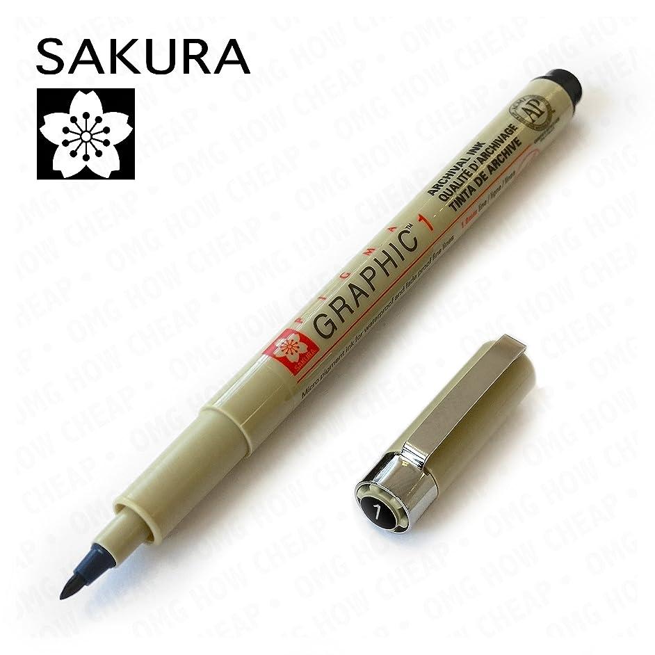 Sakura Pigma Graphic - Pigment Drawing Pen - Pack of 3 - 1.0mm - Black