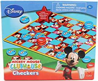Mickey Mouse Disney's Clubhouse Mickey and Goofy Kids Checkers Set