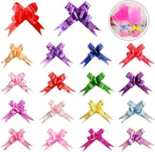 180PCS 18 Colors Gift Basket Pull Bows Knot Ribbon Present String Wrapping Decorative Bows for Christmas New Year Thanksgiving Birthday Wedding Party Ornament