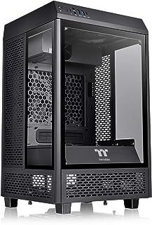 Thermaltake Tower 100 Black Edition Tempered Glass Mini Tower شاسی کامپیوتر پشتیبانی از Mini-ITX CA-1R3-00S1WN-00