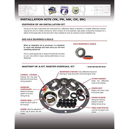 AK C8.75-OEM-COMPLETE Yukon Axle Bearing Adjuster and Seal Kit for Chrysler 8.75 Differential