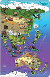 Dowling Magnets Animal Magnetism Magnetic Wildlife Map Puzzle: Asia & Australia (11.50 inches wide x 18 inches high)