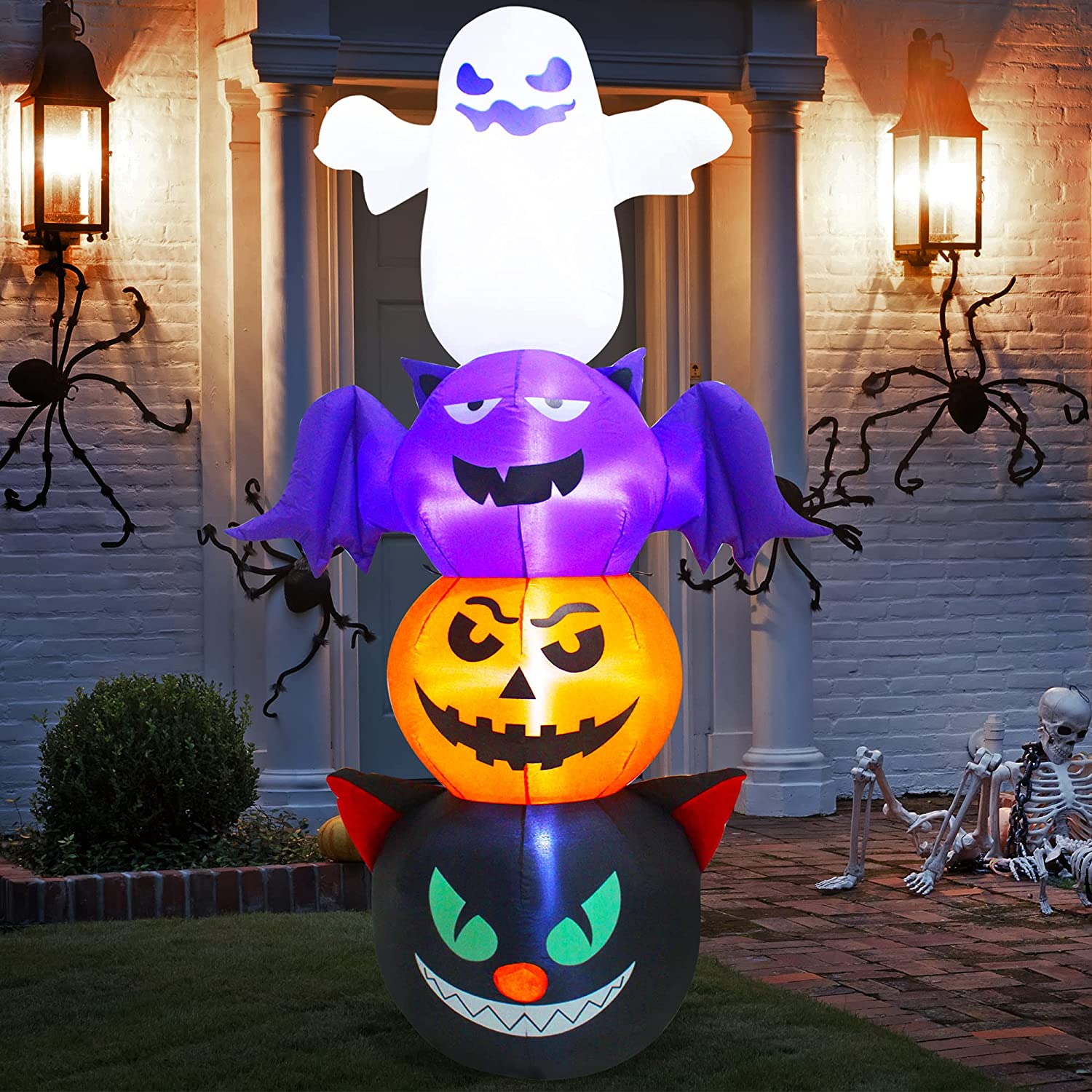 Spring new work SUNYPLAY 6FT Halloween Inflatable Ghost with Max 51% OFF Bat Pumpkin Cat Ha