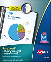 Avery Heavyweight Diamond Clear Sheet Protectors, 8.5