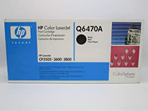 HP Q6470A 501A Color LaserJet 3600 3800 CP3505 Toner Cartridge (Black) in Retail Packaging