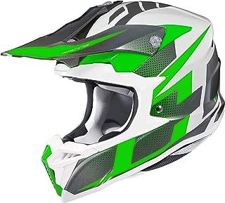 HJC i 50 Argos Off Road Motorcycle Helmet (MC-4 Green/White, XX-Large)