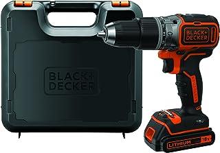 Black+Decker Accu-slagboorschroevendraaier (18 V 1,5 Ah, met borstelloze 2-versnellingsbak, led-werklicht, anti-slip-softg...
