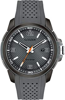 Citizen Men's Drive Stainless Steel Quartz Rubber Strap, Gray, 23 Casual Watch (Model: AW1157-08H)