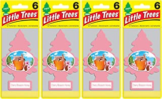 Little Trees Air Fresheners, Singles, Cherry Blossom Honey (Pack of 24)