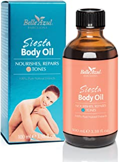 Sponsored Ad - Belle Azul Siesta Body Oil - Firming, Toning & Moisturizing Bath, Body and Massage Oil for Dry Skin with Pu...