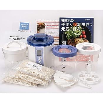 糀屋本店 タニカ電器製 ヨーグルティアS (基本セット+水切りバスケットと温玉スタンド付) 乾燥米糀 3個セット