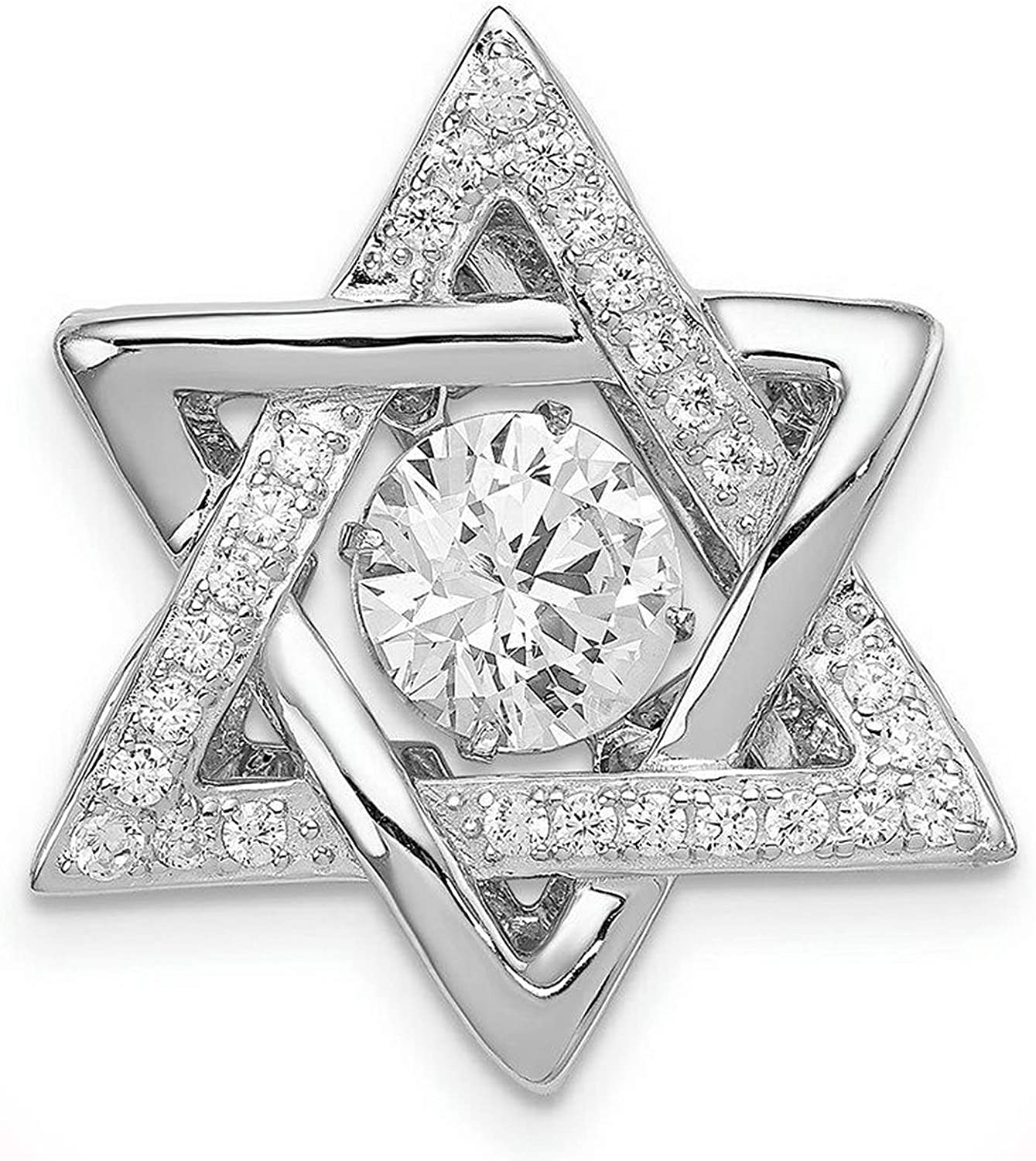 Package of Silver favorite Sterling Max 59% OFF 925 Platinum-Plated David Star wit
