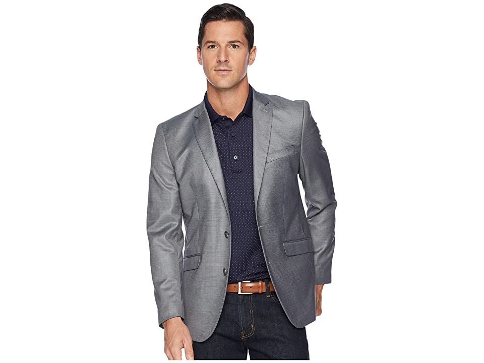 Kenneth Cole Reaction Techni-Cole Stretch Suit Separate Blazer (Light Grey) Men