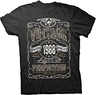 31st Birthday Gift Shirt - Vintage Aged to Perfection 1988 - Distressed