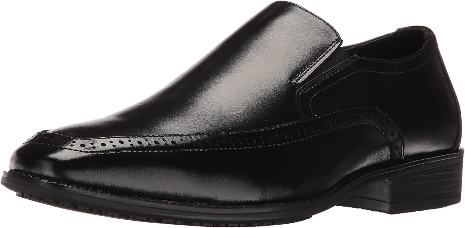 Stacy Adams Mens Acton Slip Resistant Moc Toe Slip-on Slip-On Loafer