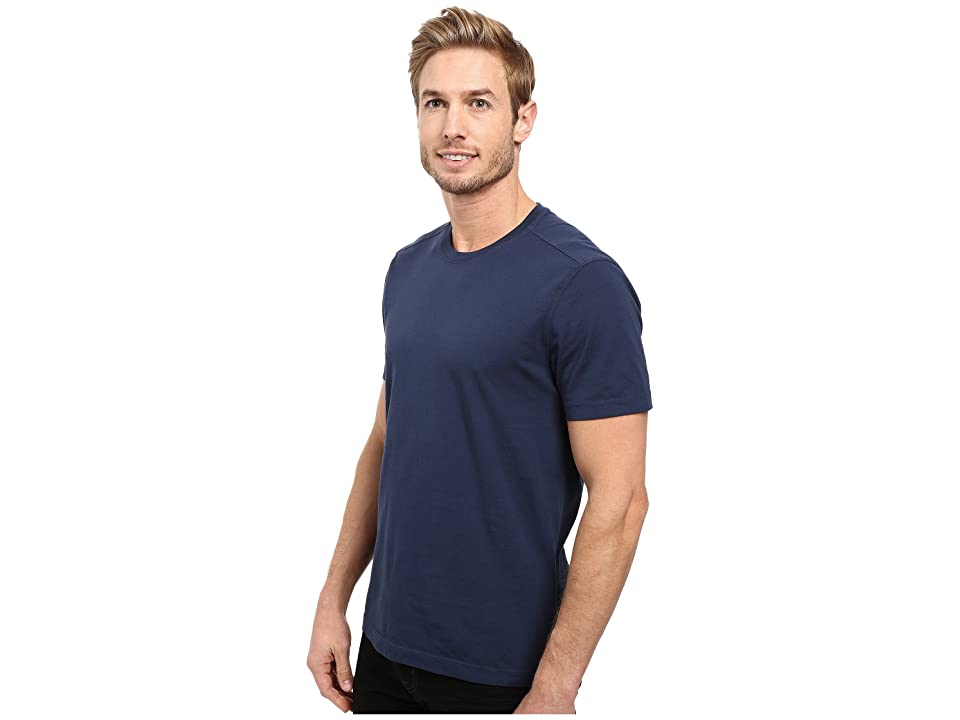 Agave Denim Agave Supima Crew Neck Short Sleeve Tee (Black Iris Navy) Men's T Shirt, Blue