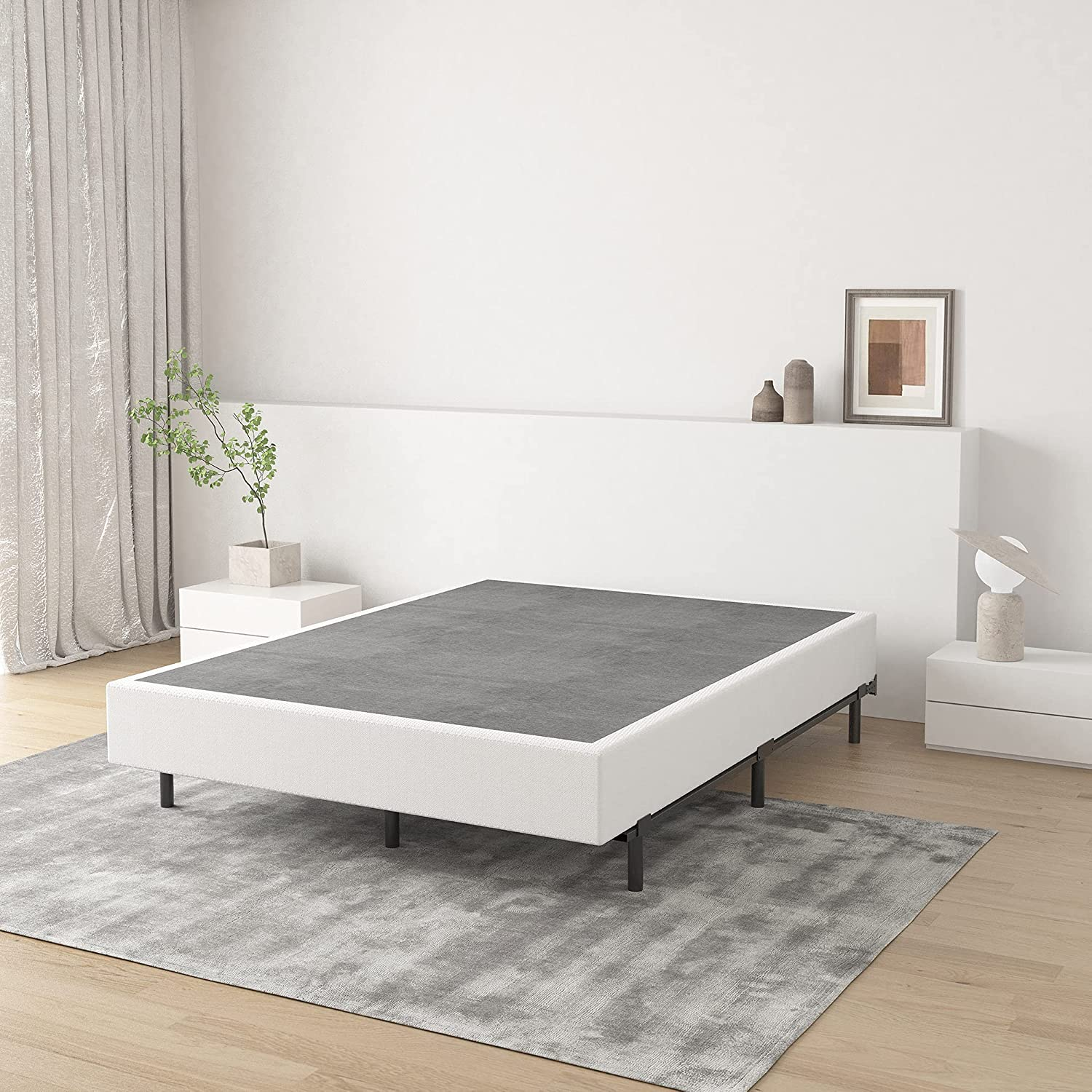 ZIYOO Cal King Box Spring 9 Courier shipping free shipping High Assembly Easy Matt Profile Sale Special Price Inch