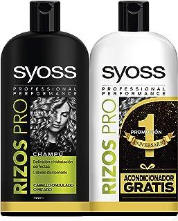 Syoss Champú + Acondicionador Rizos Pro 500 ml + 500 ml Pack de 1