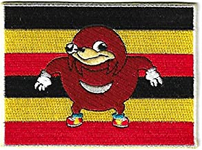 Ugandan Knuckles Flag Embroidery Patch 3.5