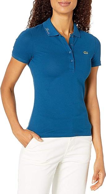 Choose SZ//color Details about  /Lacoste Womens Classic Half Sleeve Slim Fit Stretc