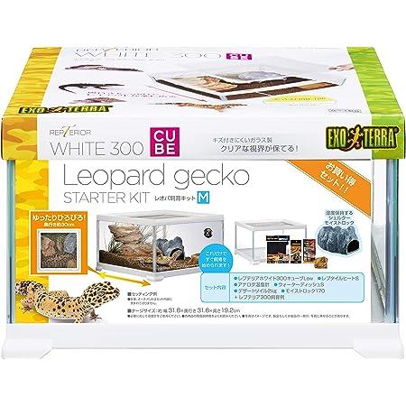ジェックス レオパ飼育キット 爬虫類用ガラスケージ ヒーター付 W31.6×D31.6×19.2cm