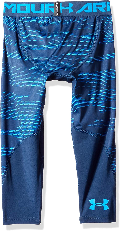 Under Armour Boys' HeatGear Armour ¾ Printed Leggings : Clothing